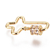 Brass Micro Pave Cubic Zirconia Screw Carabiner Lock Charms ZIRC-F105-05G-2