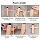 Adjustable Leather Craft Cutter Strap BeltTOOL-WH0048-04-4