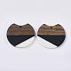 Colgantes de resina de dos tonos y madera de nogalRESI-Q210-011A-B01-2