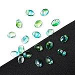 Czech Glass Beads, Tulip Petal/Lily Petal, Lime, 8.5x6x4mm, Hole: 1mm; about 380pcs/bag, 95~100g/bag