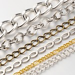Mixed Style Chains, Mixed Color, Links: 5.5~19x4~13x1~3mm; about 1m/strand