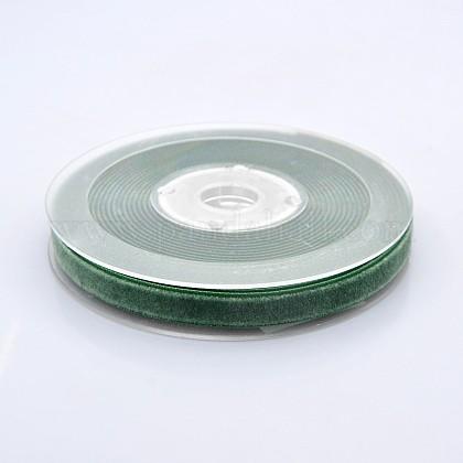 Ruban de velours en polyester pour emballage de cadeaux et décoration de festivalSRIB-M001-10mm-587-1