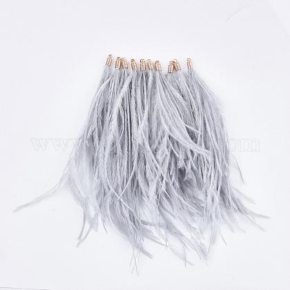 Borla de plumas de avestruz grandes decoraciones colgantesFIND-S302-08G-1