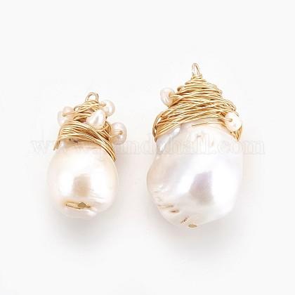 Colgantes naturales de perlas cultivadas de agua dulcePEAR-P059-P01-1