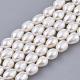 Hebras de perlas de agua dulce cultivadas naturalesPEAR-Q015-036A-01-1