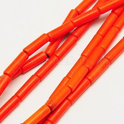 Abalorios de turquesas sintéticas hebrasTURQ-G120-4x13mm-06-1