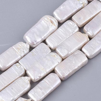 Hebras de perlas keshi de perlas barrocas naturalesPEAR-Q015-015-1