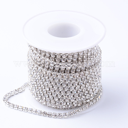 Cadenas de strass Diamante de imitación de bronceCHC-T001-SS8-01S-1
