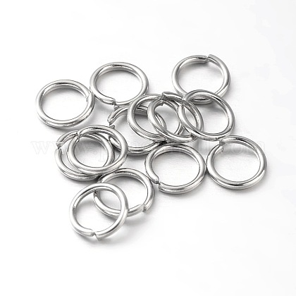 Placas de vacío ambiental & anillos abiertos de latón chapado de larga duraciónKK-E663-4mm-P-1