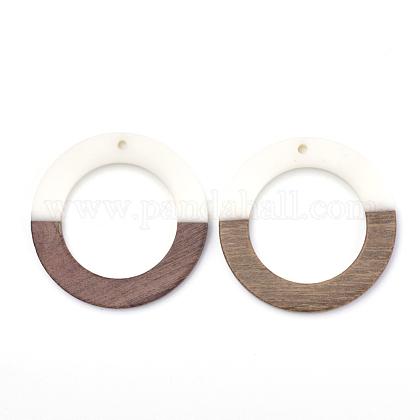 Colgantes de resina y madera de nogalRESI-T023-05C-1