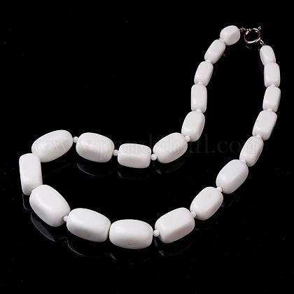 Porcelain Graduated Beaded NecklacesNJEW-F120-B01-1