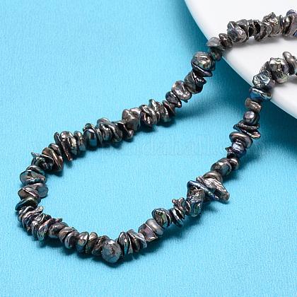 Hebras de perlas keshi de perlas barrocas naturalesPEAR-Q004-33A-1