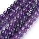 Natural Amethyst Beads StrandsG-G099-8mm-1-1