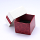 Rectangle Cardboard Ring Boxes with Black Velvet inside & Bowknot CBOX-N006-02-3
