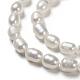 Hebras de perlas de agua dulce cultivadas naturalesPEAR-T001-06C-4