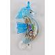Handmade Silver Foil Glass Big PendantsX-SLSP105-2