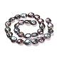 Hebras de perlas keshi de perlas barrocas naturalesPEAR-Q007-01-2