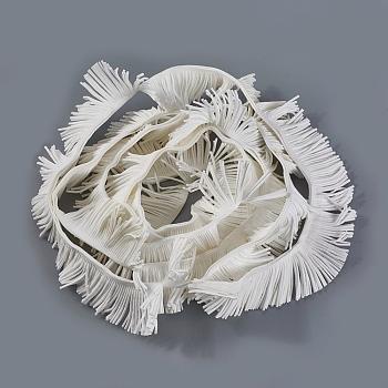 Cuerda de ante imitación, blanco, 50x1.5mm