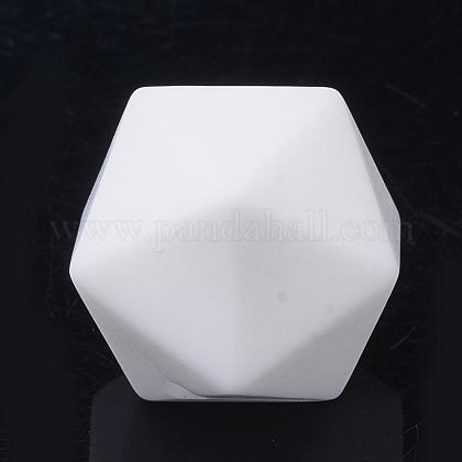 Abalorios de silicona ambiental de grado alimenticioSIL-T048-14mm-01-1
