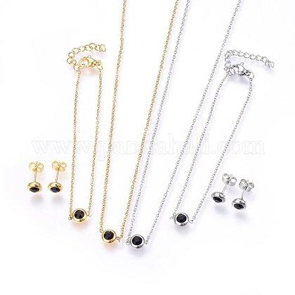 304 Stainless Steel Jewelry SetsSJEW-H144-24C-1
