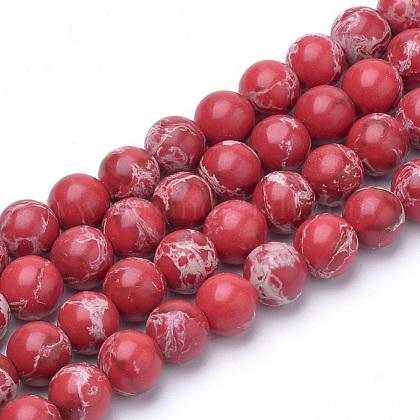 Synthetic Imperial Jasper Beads StrandsG-Q462-131C-8mm-1