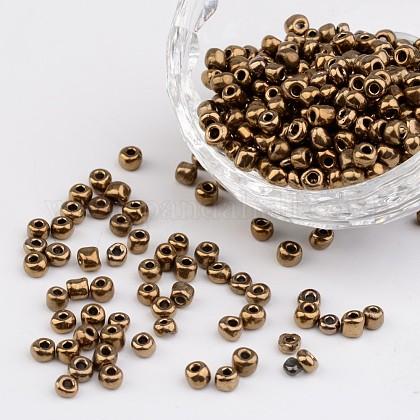 6/0 electrochapado perlas de semillas de vidrio redondo del irisX-SEED-A009-4mm-601-1