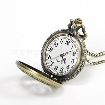 フラットラウンド合金クォーツ懐中時計WACH-N039-03A-1