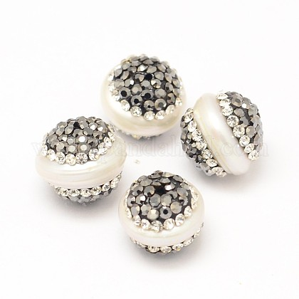 Perlas naturales abalorios de agua dulce cultivadasRB-L025-21-1