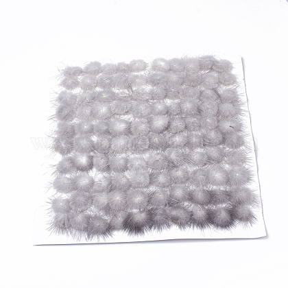 Faux Mink Fur Ball Decoration X-FIND-S267-3.5cm-11-1