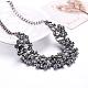 Mujeres de la moda de joya de zinc collares del collar de rhinestone de cristal de aleación babero declaración gargantillaNJEW-BB15143-D-3