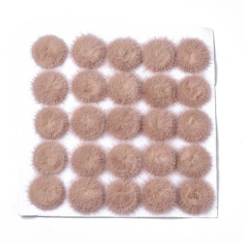 Faux Mink Fur Ball Decoration, Pom Pom Ball, For DIY Craft, DarkSalmon, 4.8~5.5cm; about 25pcs/board