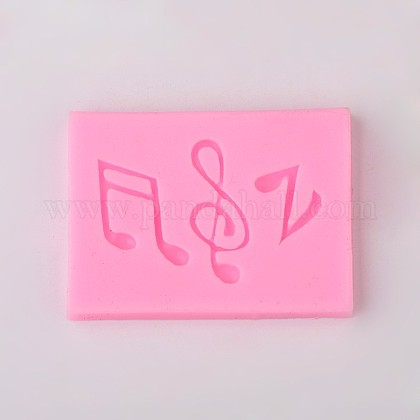 Musical Note Design DIY Food Grade Silicone Molds AJEW-L054-22-1