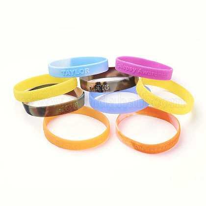 Free Sample Silicone Wristbands BraceletsBJEW-K165-05B-1