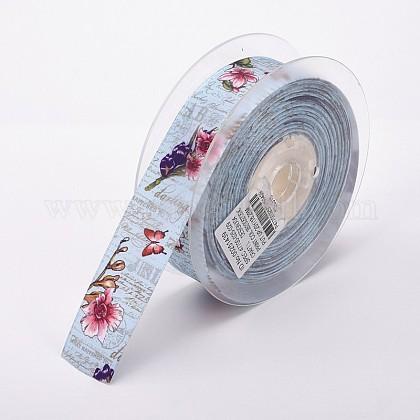 """By The Meter #4084 Purple Diamonds 25mm 1/"""" Printed Grosgrain Ribbon"""