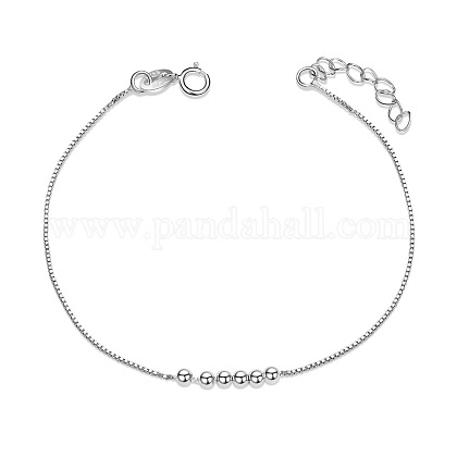 SHEGRACE® Simple Design 925 Sterling Silver Bracelet with Small Beads JB09A-1