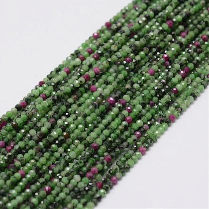 Natural Ruby in Zoisite Beads Strands G-E351-02-1
