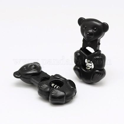 1 hoyos de hierro teñido cargados primavera plástico ambiental de palanca de bloqueo espinal hebilla oso frijoles tapones para correas de la mochila de equipaje sportwearFIND-E004-81B-1