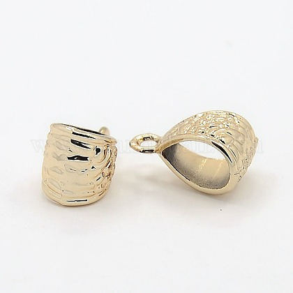 Cadmium Free & Nickel Free & Lead Free Light Gold Alloy Hanger LinksPALLOY-J219-034-NR-1