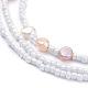 Glass Seed Beads Chain BeltsNJEW-C00013-4