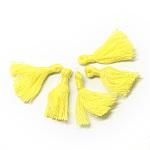 Décorations de gland en coton, décorations pendantes, jaune, 30mm