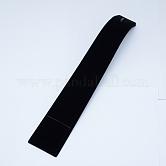 Bracelet écrans de velours, avec du bois, noir, taille:  Largeur environ 40mm, Longueur 205mm, hauteur de 50 mm , épaisseur de 5.5mm