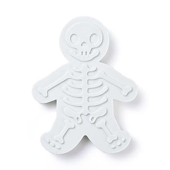 Скелетные формочки для печенья, штампы тиснение скелетный узор, Молды для украшения торта, белые, 11x13.8x1.8 см