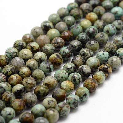 Faceted African Turquoise Rondelle Beads 15 nsKE339 3x4mm