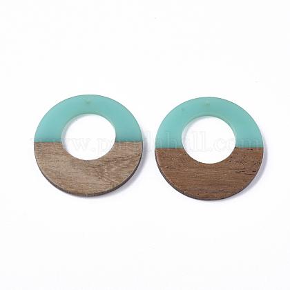 Colgantes de resina y madera de nogalRESI-S358-29B-07-1