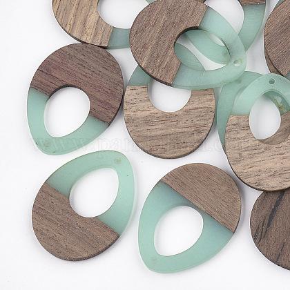 Colgantes de resina y madera de nogalRESI-S358-05C-1