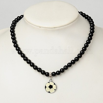 Acrylic Stretchy Necklaces for Kids NJEW-JN00545-04-1