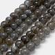 Natural Labradorite Beads StrandsG-K285-03-8mm-1
