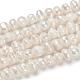 Hebras de perlas de agua dulce cultivadas naturalesPEAR-F007-63-5