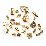 Alloy Finding Beads, Mixed Shapes, Antique Golden, 4~50x4~40mm, Hole: 1~5mm