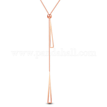 SHEGRACE® Titanium Steel Lariat Necklaces JN971A-1